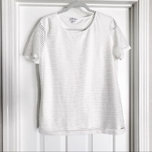 Calvin Klein White Short Sleeve Blouse